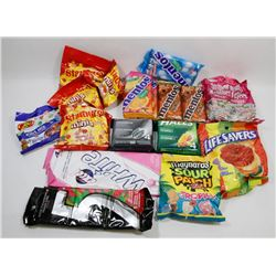 BAG OF ASSORTED GUM, CANDY AND CHOCOLATE.
