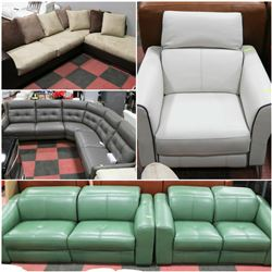 FEATURED GENUINE LEATHER SOFA SETS AND SECTIONALS