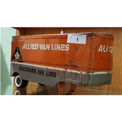 1950'S ALLIED VAN LINES PRESSED STEEL TRAILER