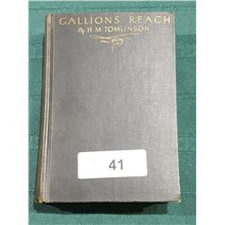 1927 GALLION'S REACH BY H.M. TOMLINSON