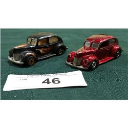 TWO '40 FORD 2 DOOR HOTWHEELS CARS