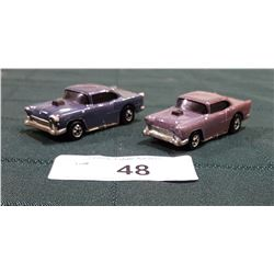 TWO 1955 CHEVY HOTWHEELS CARS
