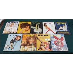 NINE 1960'S/70'S PLAYBOY MAGAZINES ALL IN GOOD CONDITION