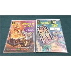 "VINTAGE ""THE TWILIGHT ZONE"" & ""RIPLEY'S BELIEVE IT OR NOT"" 15CENT COMICS"