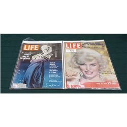 1959 & 1962 LIFE MAGAZINES W/MARILYN MONROE ON THE COVER