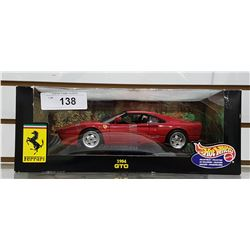 1984 FERRARI GTO DIE CAST CAR BY HOTWHEELS
