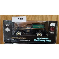 1936 DODGE DELIVERY VAN DIE CAST BANK BY HUDSON'S BAY COMPANY