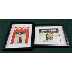 TWO FRAMED HOCKEY PICTURES