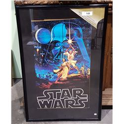 VINTAGE STAR WARS MOVIE POSTER FRAMED