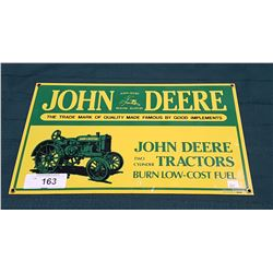 JOHN DEERE TRACTORS PORCELAIN SIGN BY ANDE ROONEY