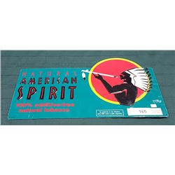 ORIGINAL AMERICAN SPIRIT TOBACCO TIN SIGN