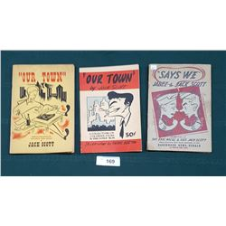 "1942, 1943, & 1946 ""OUR TOWN"" & ""SAYS WE"" PAPER BACKS BY JACK SCOTT"