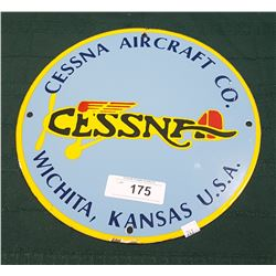 CESNA AIRCRAFT CO. PORCELAIN SIGN