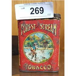 VINTAGE FORREST & STREAM TOBACCO POCKET TIN