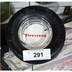 VINTAGE FIRESTONE RUBBER TIRE ASHTRAY