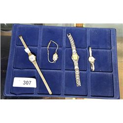 FOUR VINTAGE LADIES WRIST WATCHES