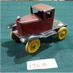 1930'S PRESSED STEEL TRUCK W/WOOD WHEELS