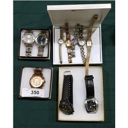 LOT OF 10 DESIGNER WRIST WATCHES