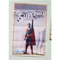 1978 SUPERMAN THE MOVIE POSTER & 37 SUPERMAN & MORK & MINDY TRADING CARDS