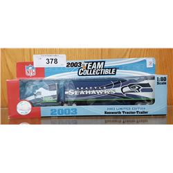 SEATTLE SEAHAWKS 2003 LTD EDITION DIE CAST KENWORTH TRACTOR TRAILER