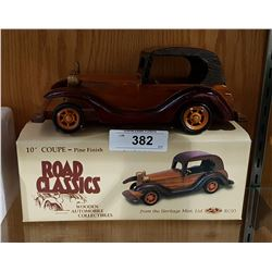 ROAD CLASSICS WOODEN COLLECTIBLE CAR
