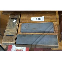 TWO ANTIQUE SHARPENING STONES