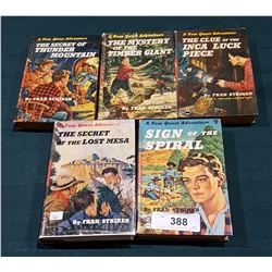 FIVE VINTAGE TOM QUEST HARD COVER ADVENTURE NOVELS