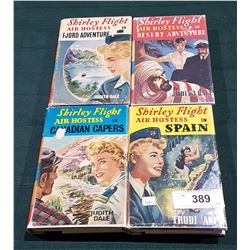 FOUR VINTAGE SHIRLEY'S FLIGHT AIR HOSTESS HARD COVER NOVELS