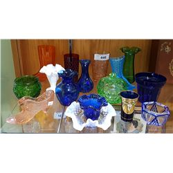 16 PIECES OF VINTAGE COLLECTIBLE ART GLASS