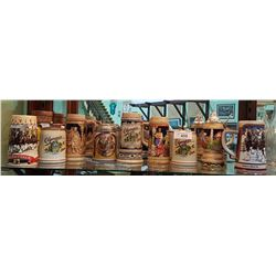 LOT OF 10 COLLECTIBLE BEER STEINS