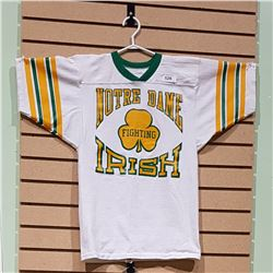 VINTAGE NOTRE DAME FIGHTING IRISH JERSEY ADULT SMALL