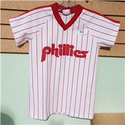 VINTAGE PHILLIES JERSEY YOUTH LARGE