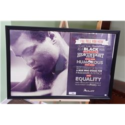 FRAMED MUHAMMED ALI MOTIVATIONAL PRINT