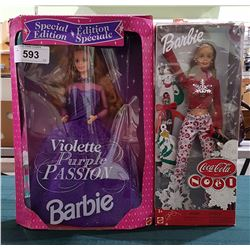 2 NIB COLLECTIBLE BARBIES