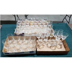 APPROX 64 PC SET BOHEMIAN CRYSTAL STEMWARE