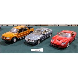 3 DIE CAST CARS