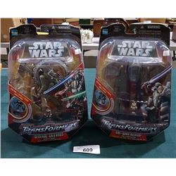 2 NIB STAR WARS TRANSFORMERS