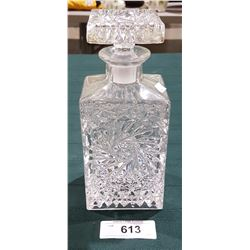 PINWHEEL CRYSTAL WHISKEY DECANTER