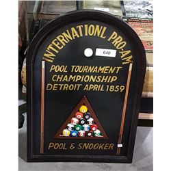 WOODEN POOL HALL SIGN
