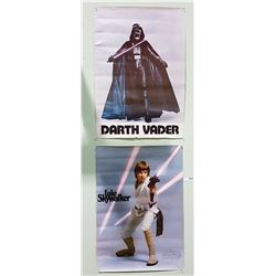 ORIGINAL 1977 STAR WARS LUKE SKYWALKER & DARTH VADER POSTERS
