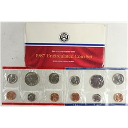 1987 US MINT SET (UNC) P/D (WITH ENVELOPE)