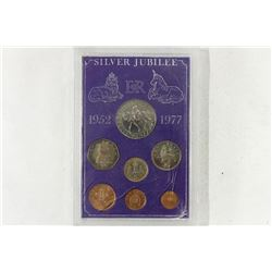 1952-1977 GREAT BRITAIN SILVER JUBILEE COIN SET