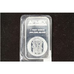 1 TROY OZ .999 FINE SILVER PROOF SILVER BAR APMEX
