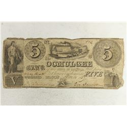 1837 THE OSMULGEE BANK OF GEORGIA $5