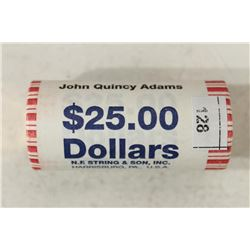 $25 ROLL OF 2008 JOHN QUINCY ADAMS PRESIDENTIAL
