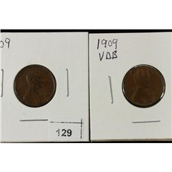 1909 & 1909-VDB LINCOLN CENTS BOTH EXTRA FINES
