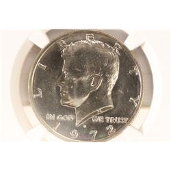 1972-D KENNEDY HALF DOLLAR NGC MS66