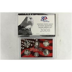 2008 SILVER US 50 STATE QUARTERS PROOF SET WITHBOX
