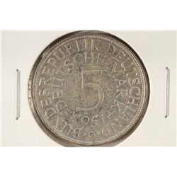 1851-G GERMAN SILVER 5 MARKS