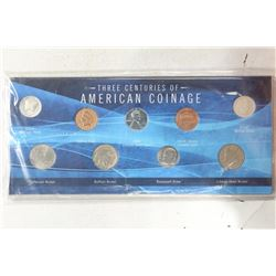 3 CENTRIES OF AMERICAN COINAGE SET INCLUDES